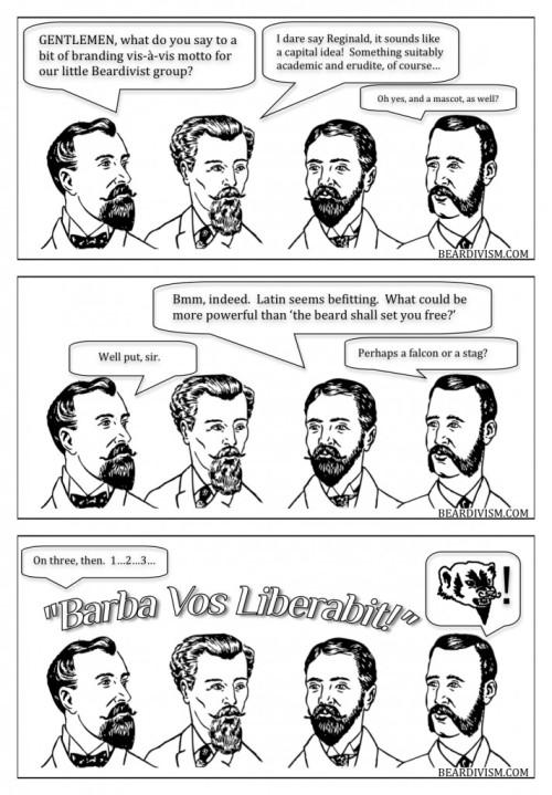 branding latin beard comic