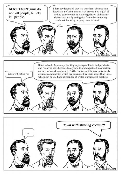 Bullets gun control beard comic
