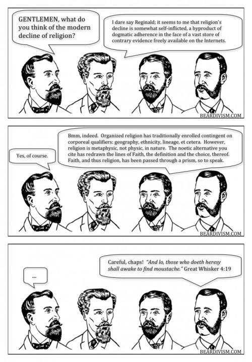 the decline of religion internet as new religion beard comic