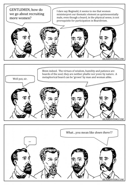 Yonic by Nature bearded woman beard comic
