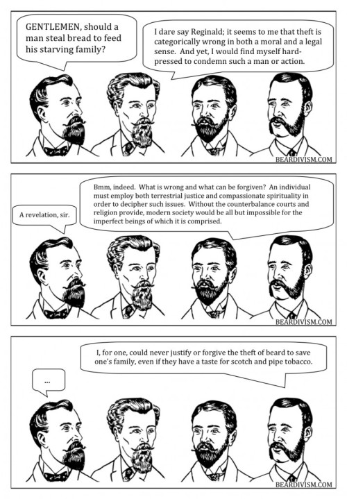 Beard and Bread justice forgiveness law and religion beard comic