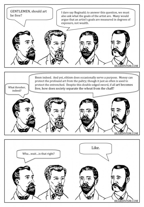free art through social networking art industry beard comic