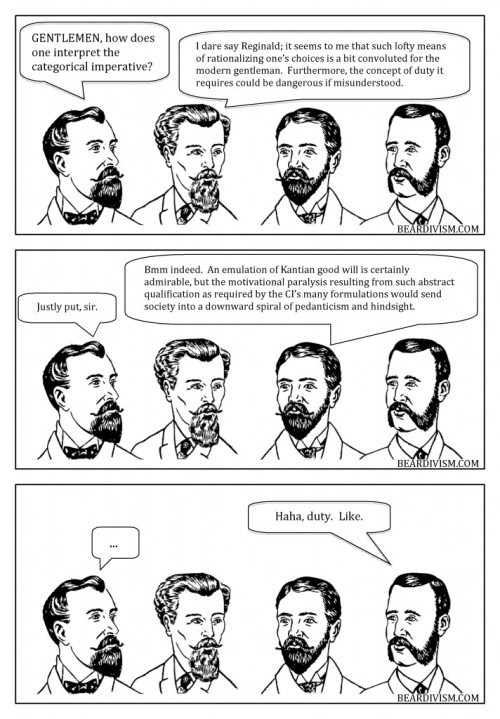 Immanuel Kant categorical imperative beard comic duty