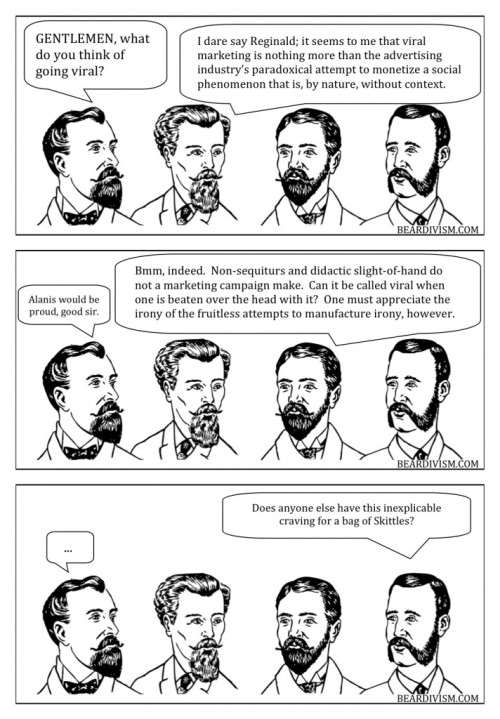 Taste the rainbow viral marketing skittles beard comic
