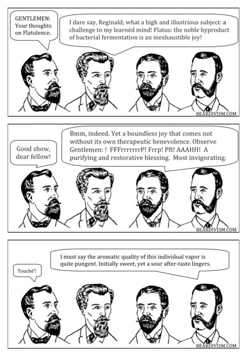Beard comic on farts and the flavor thereof crowd sourcing or is it souring?